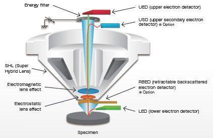 Détecteur d'électrons rétrodiffusés