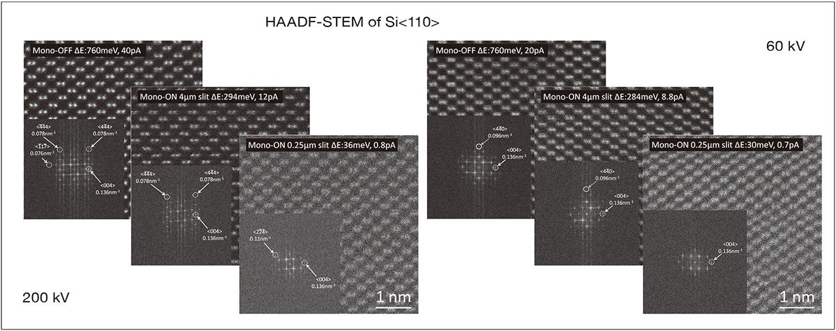 HAADF-STEM of Si<110>