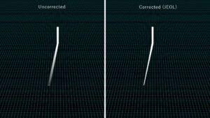 Correction automatique du faisceau d'électrons